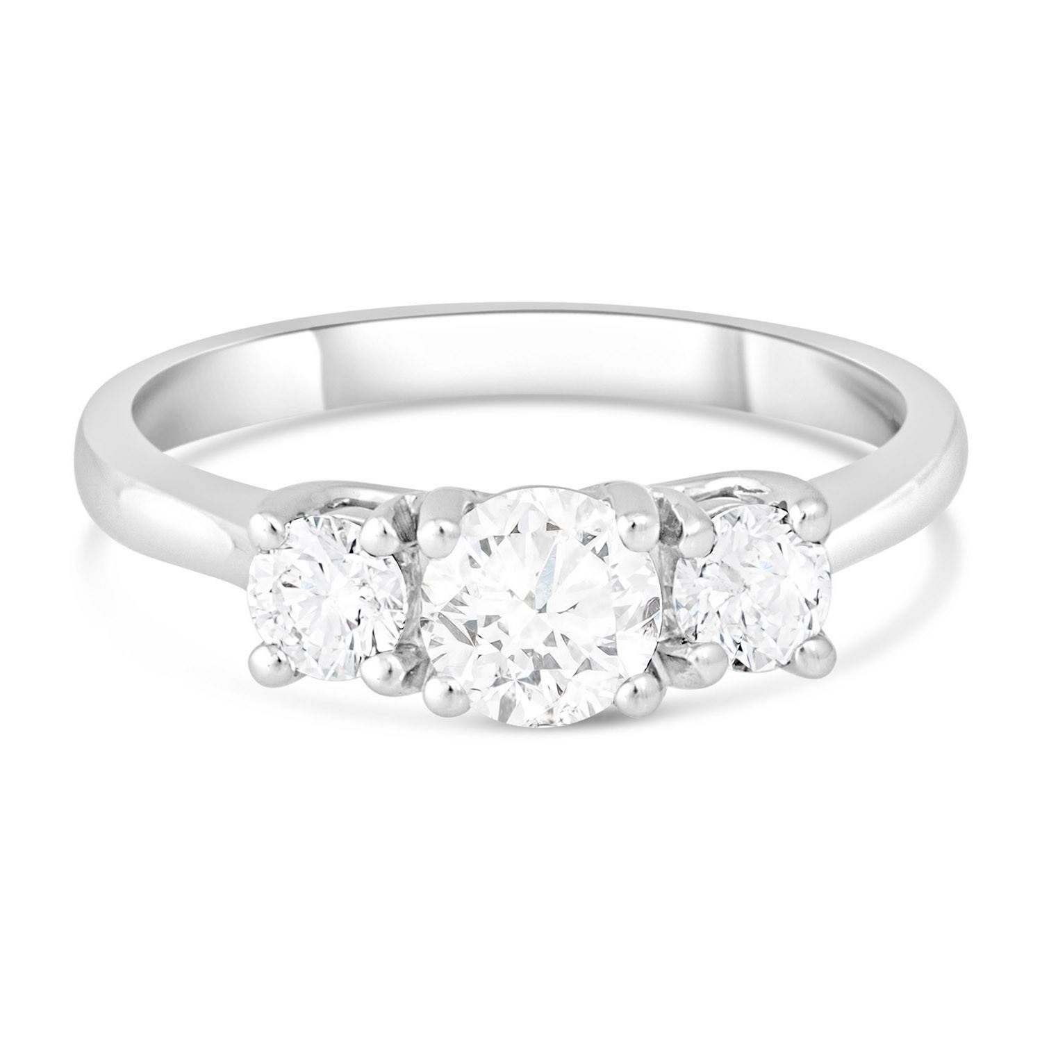 Platinum 3 Stone Engagement Ring Fields (View 2 of 15)