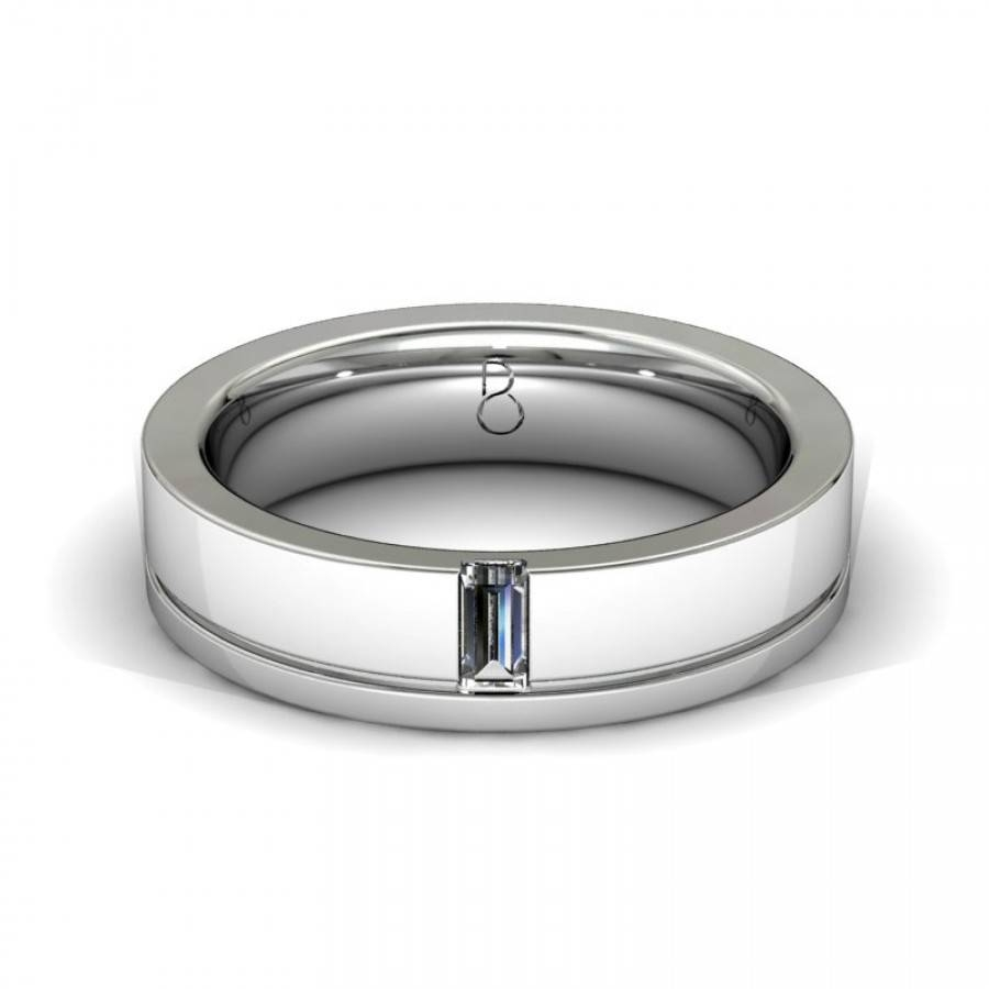 Featured Photo of Platinum Mens Wedding Bands With Diamonds