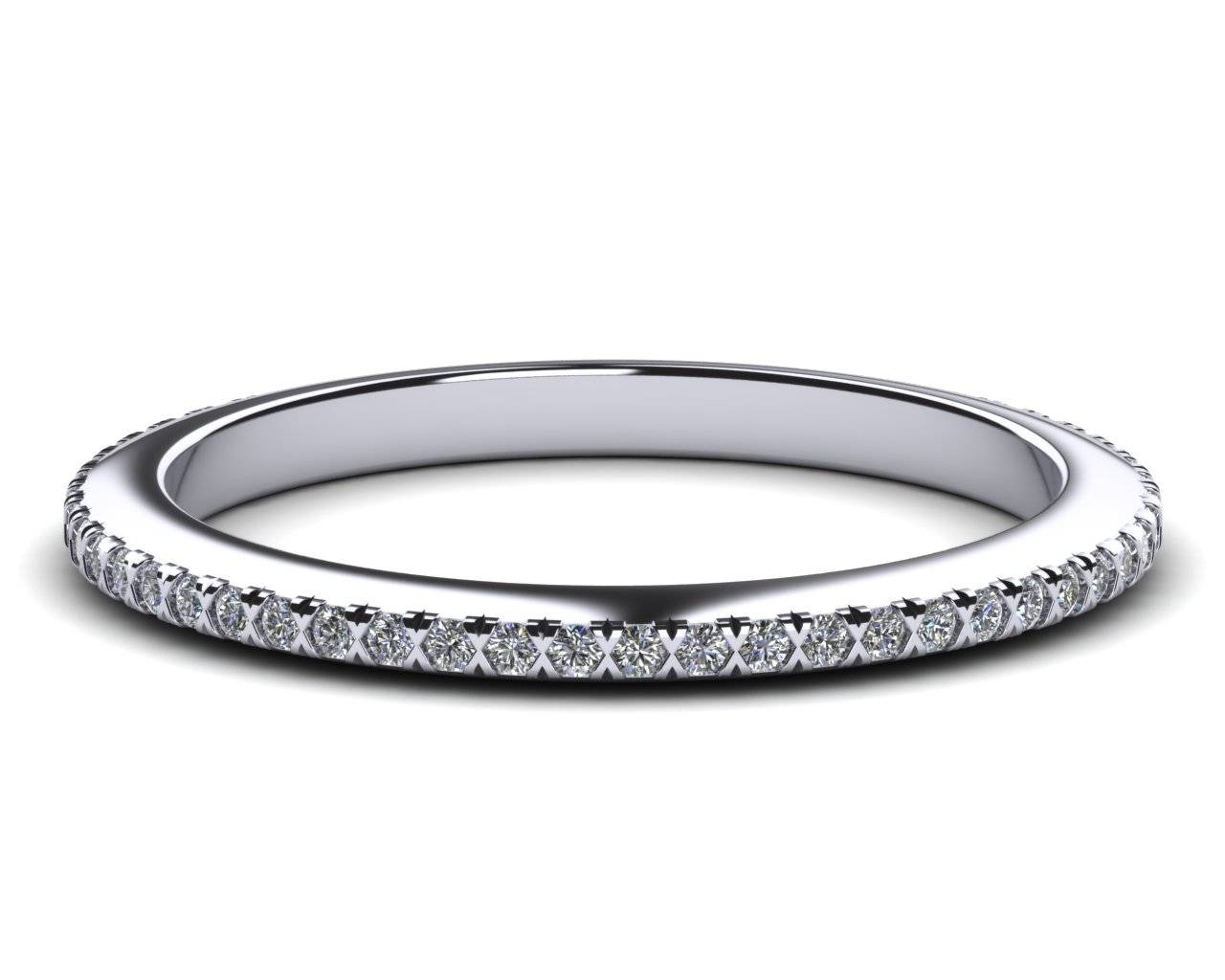 Platinum Diamond(G,si) Micro Pave Band Regarding Micro Pave Wedding Bands (Gallery 7 of 15)