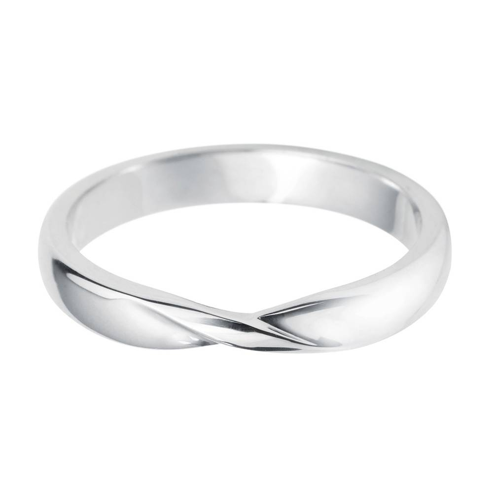 Platinum Ladies Ribbon Twist Shaped Wedding Ring At Berry's Jewellers In Most Popular Platnium Wedding Bands (View 10 of 15)