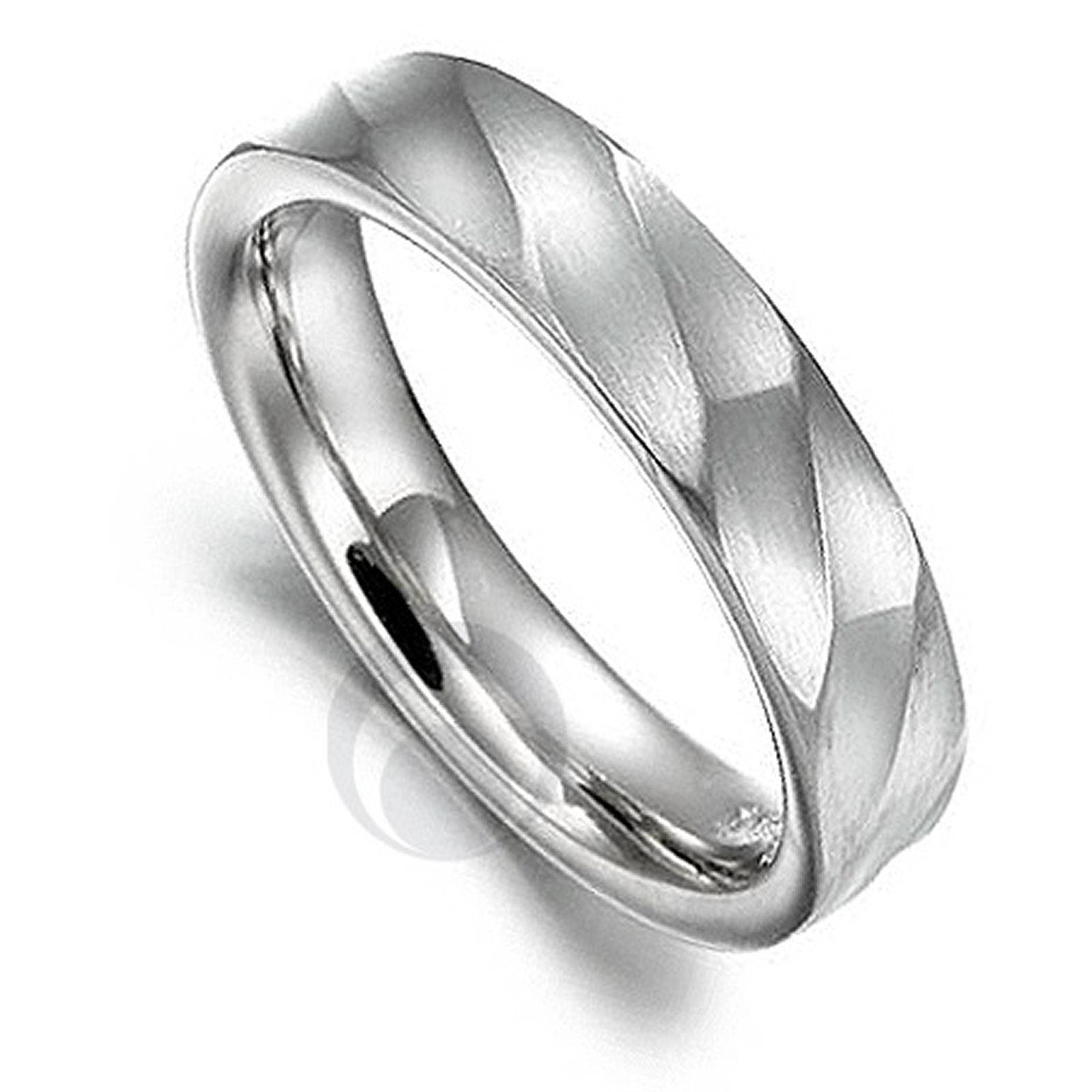 Mens Frosted Diamond Ring