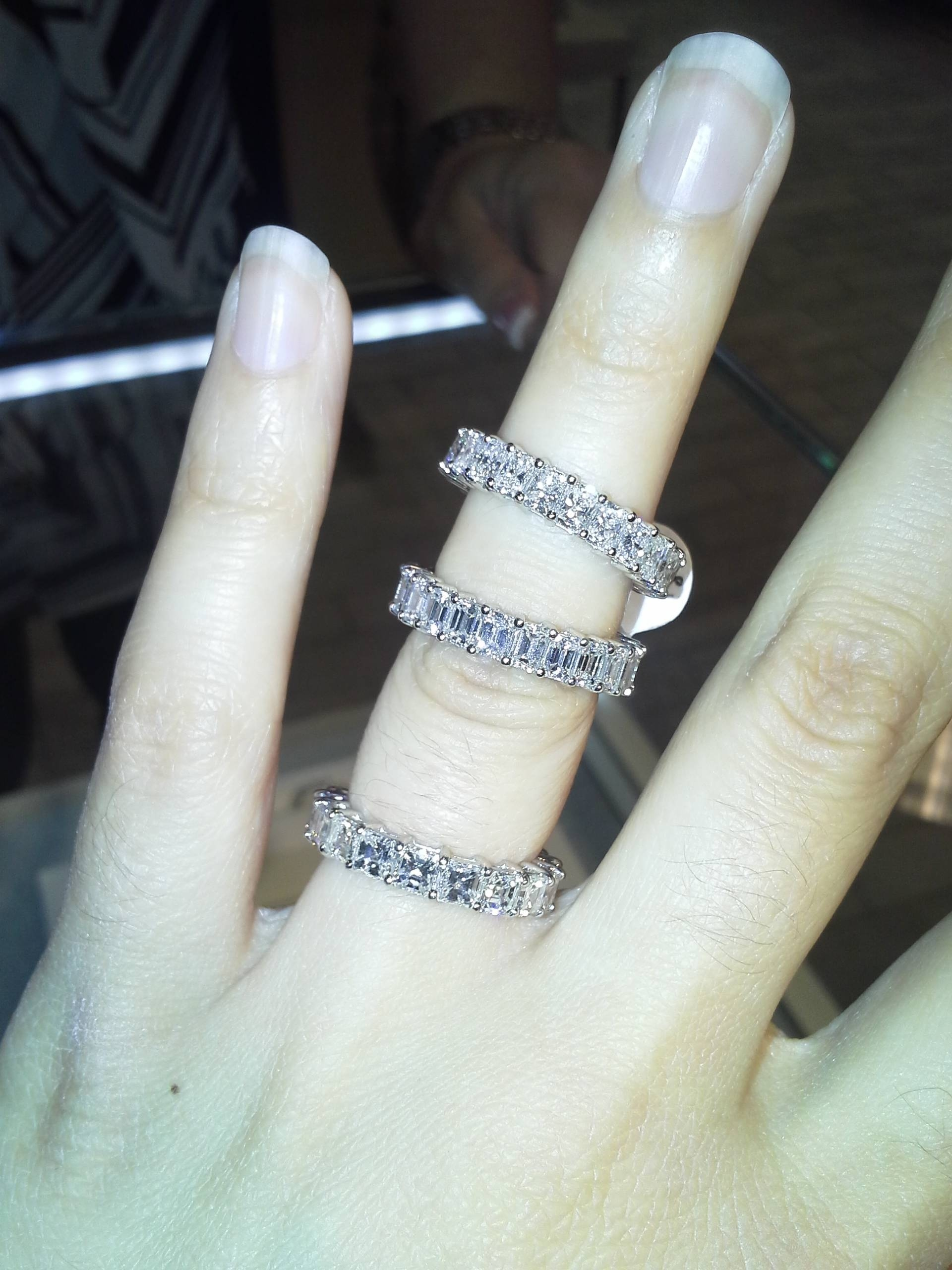 Please Post Pics Of Emerald Or Asscher Cut Wedding Band S Your In Most Up To Date Asscher Cut Wedding Bands (View 14 of 15)
