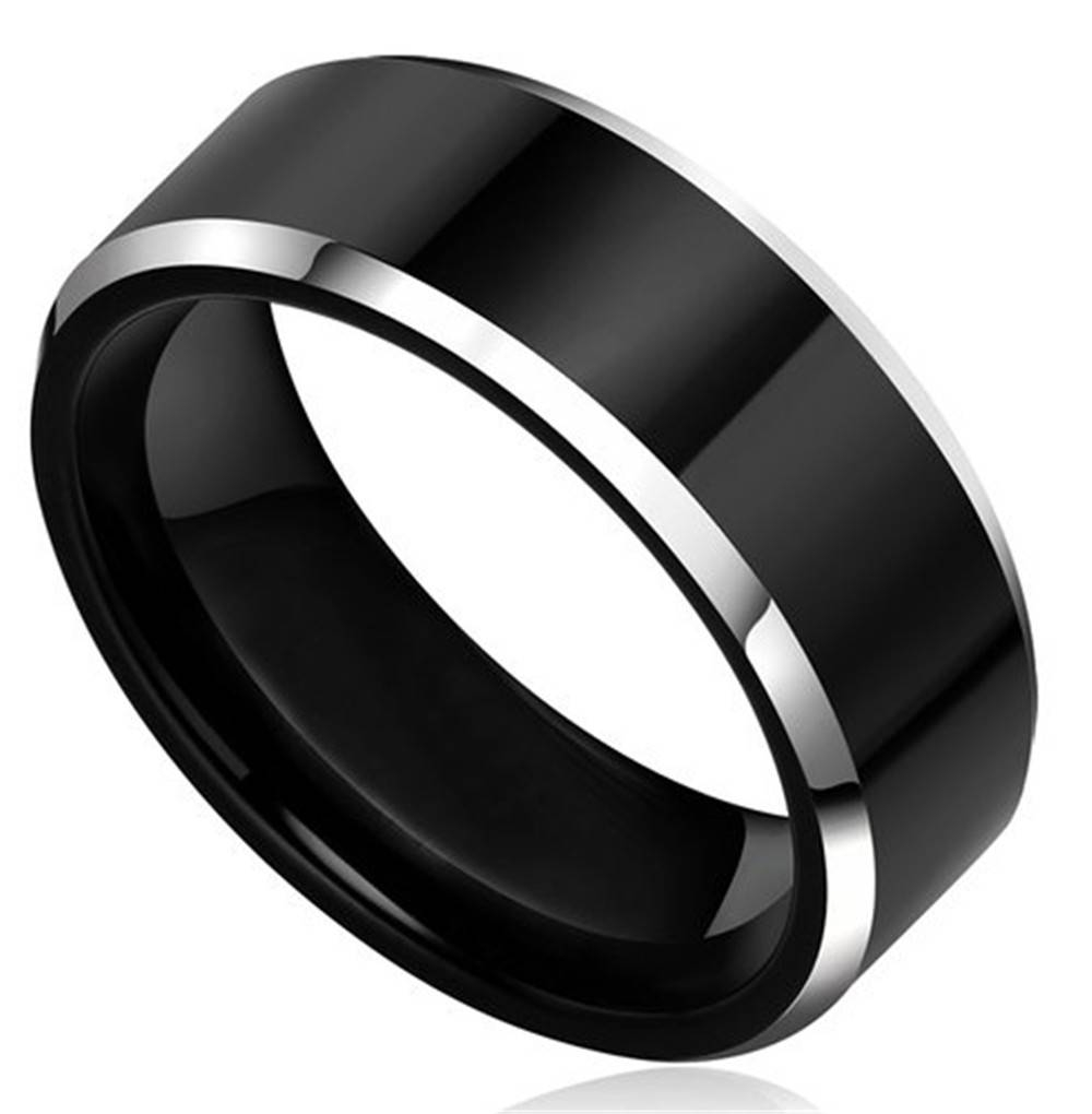 Popular Black Metal Wedding Bands Buy Cheap Black Metal Wedding Pertaining To Dark Metal Wedding Bands (View 5 of 15)