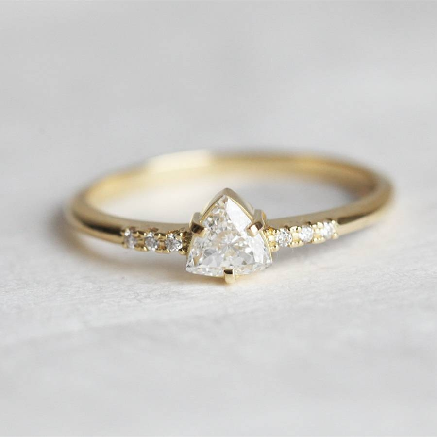 Popular Triangle Cut Diamond Ring Buy Cheap Triangle Cut Diamond Throughout Triangle Cut Diamond Engagement Rings (View 8 of 15)