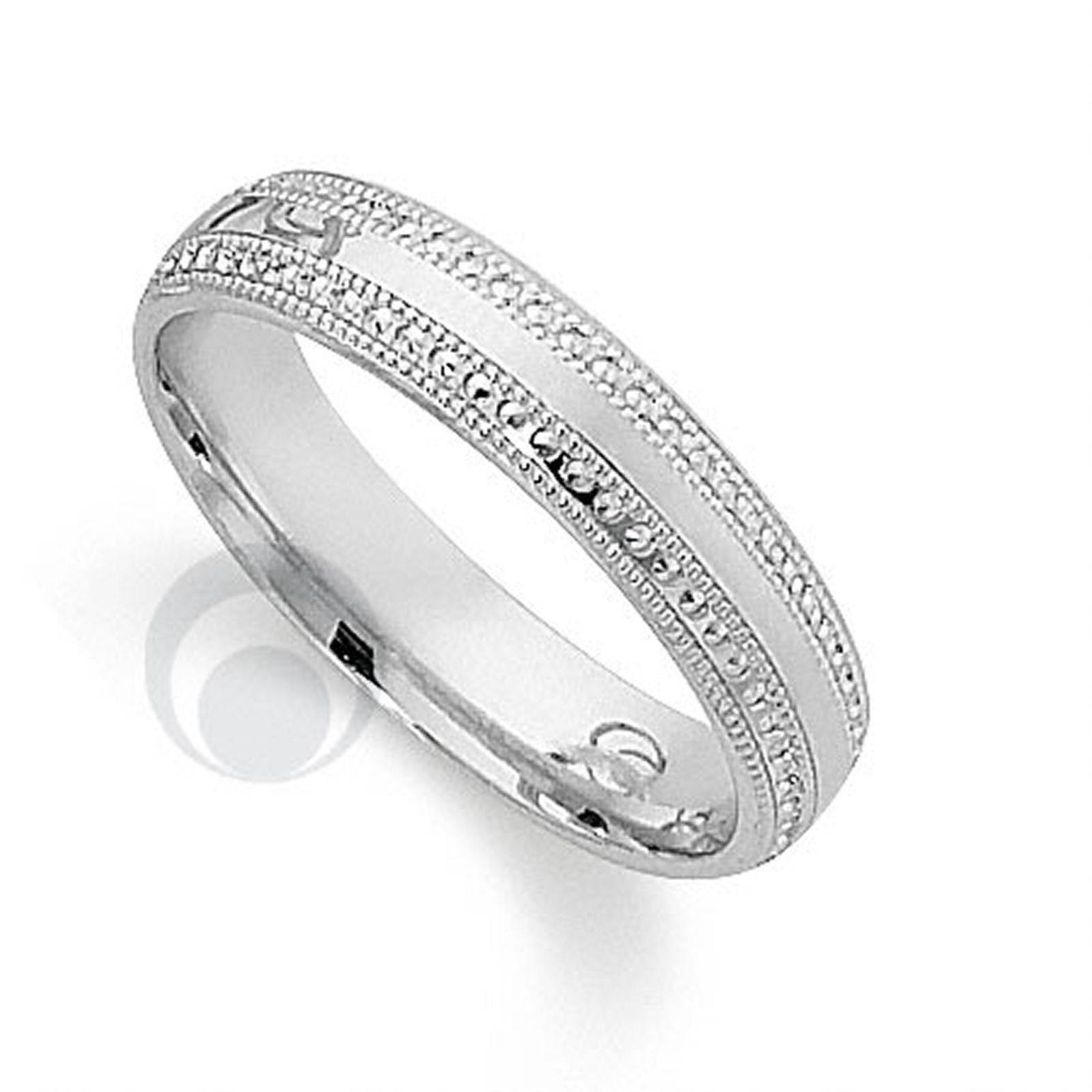 Pretty Patterened Platinum Wedding Ring From The Platinum Ring Intended For Most Current Platnium Wedding Bands (View 12 of 15)