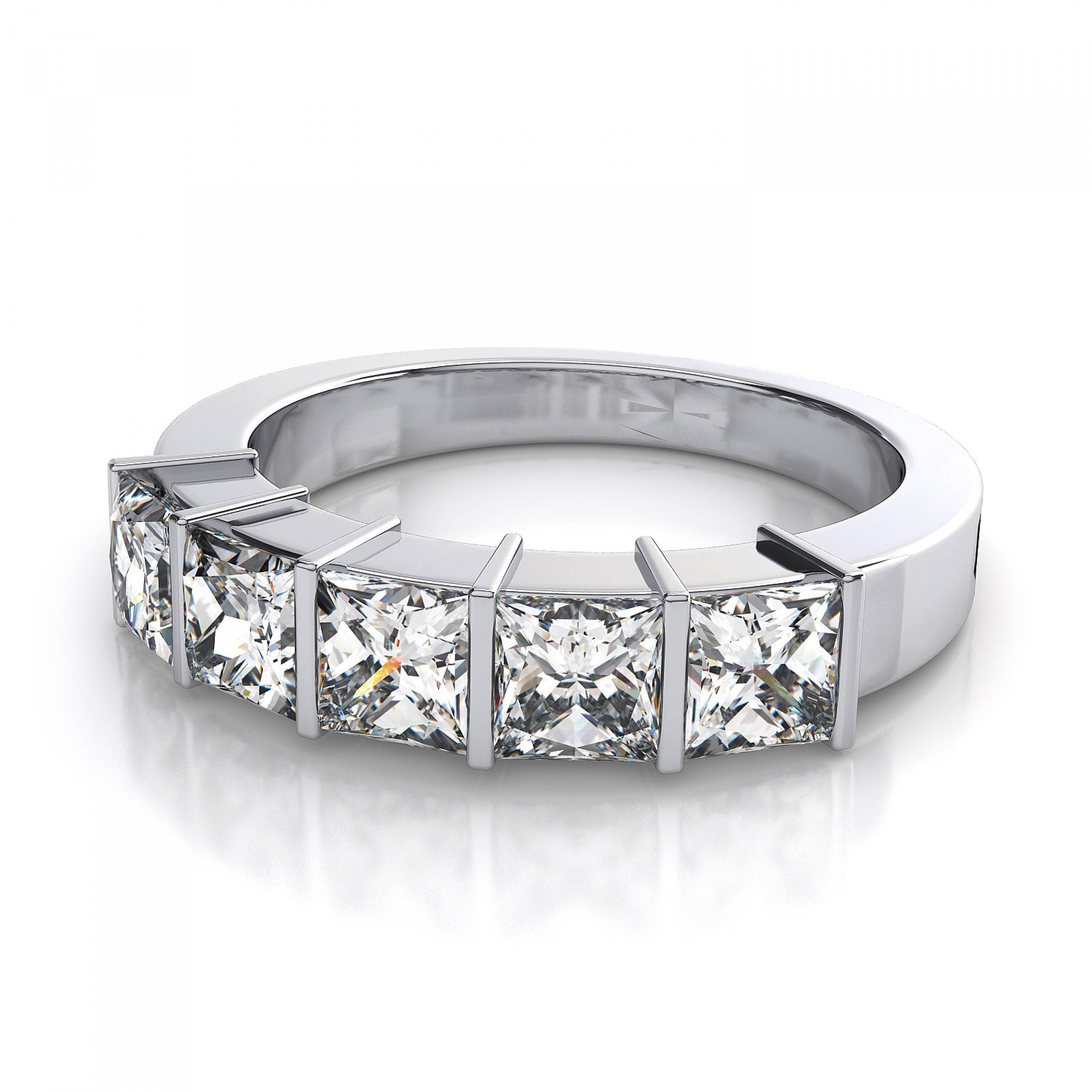 Princess Cut Diamond Tags : Beautiful Wedding Rings Sets Wedding Throughout Most Recently Released Five Diamond Wedding Bands (View 3 of 15)