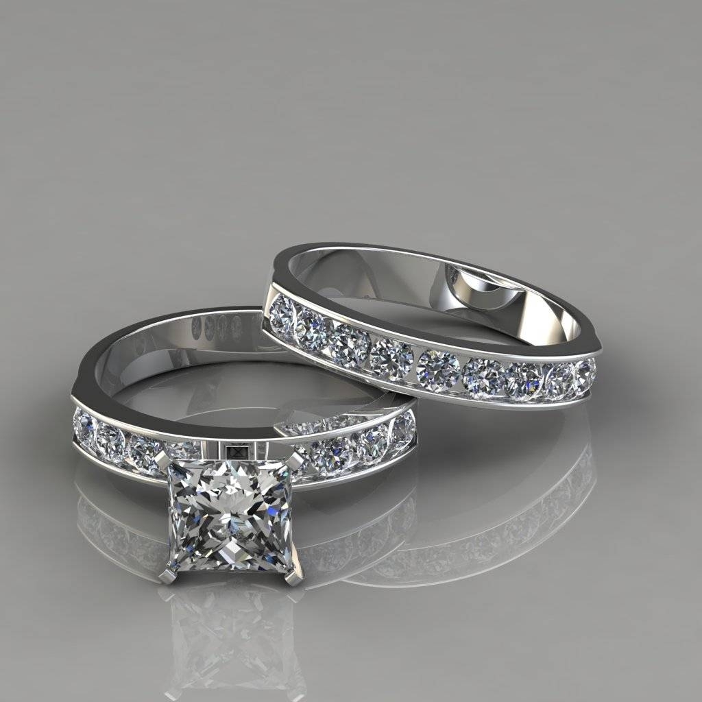 Princess Cut Engagement Rings And Wedding Bands – Justsingit Inside 2018 Princess Cut Engagement Rings And Wedding Bands (View 13 of 15)