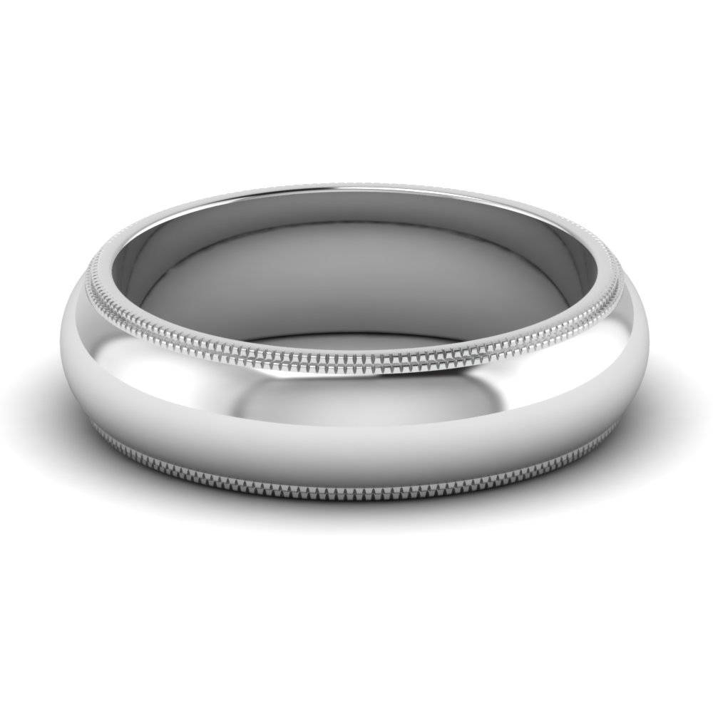 Purchase Silver Wedding Bands For Men| Fascinating Diamonds Throughout Mens Milgrain Wedding Bands (View 11 of 15)