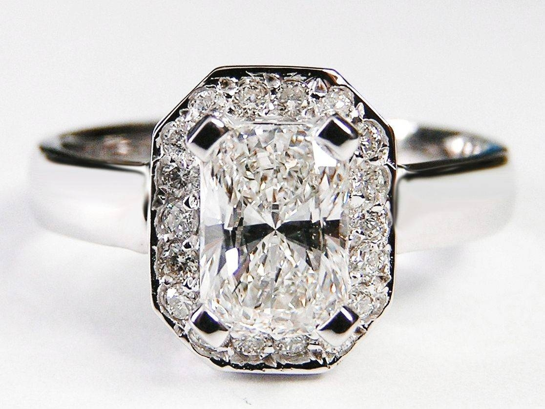 Radiant Cut Antique Diamond Rings | Wedding, Promise, Diamond Within Rectangular Radiant Cut Diamond Engagement Rings (Gallery 3 of 15)