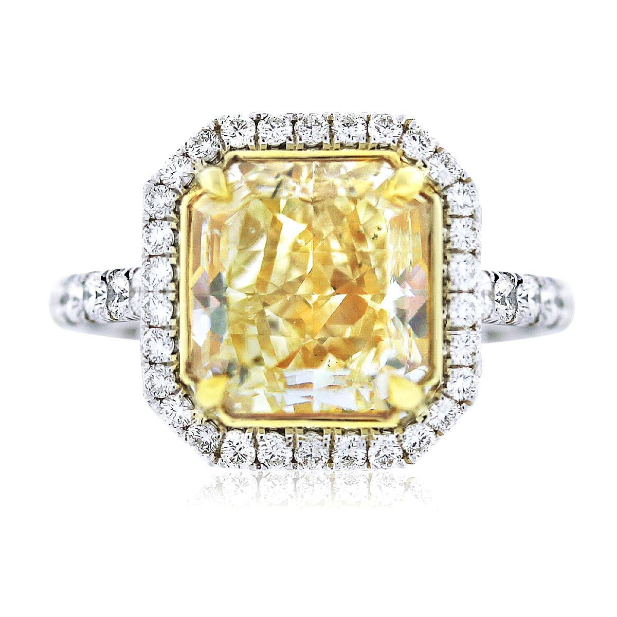 Radiant Cut Diamond Engagement Rings In Rectangular Radiant Cut Diamond Engagement Rings (Gallery 13 of 15)