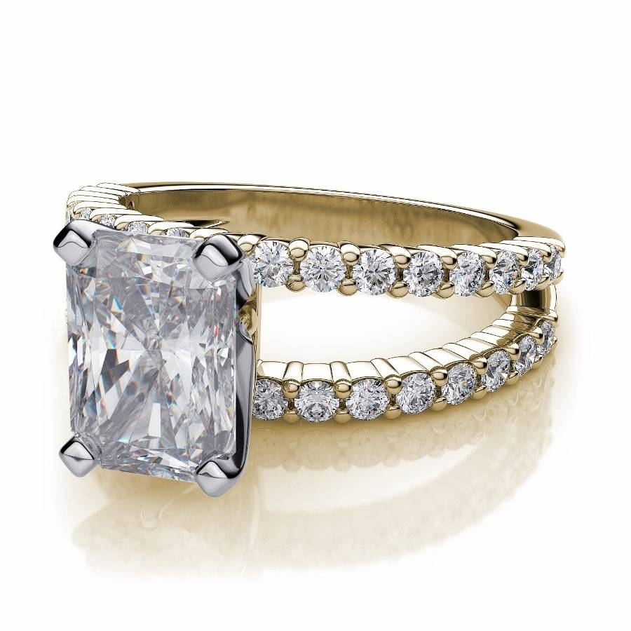 Radiant Cut Diamond Engagement Rings Intended For Rectangular Radiant Cut Diamond Engagement Rings (Gallery 7 of 15)