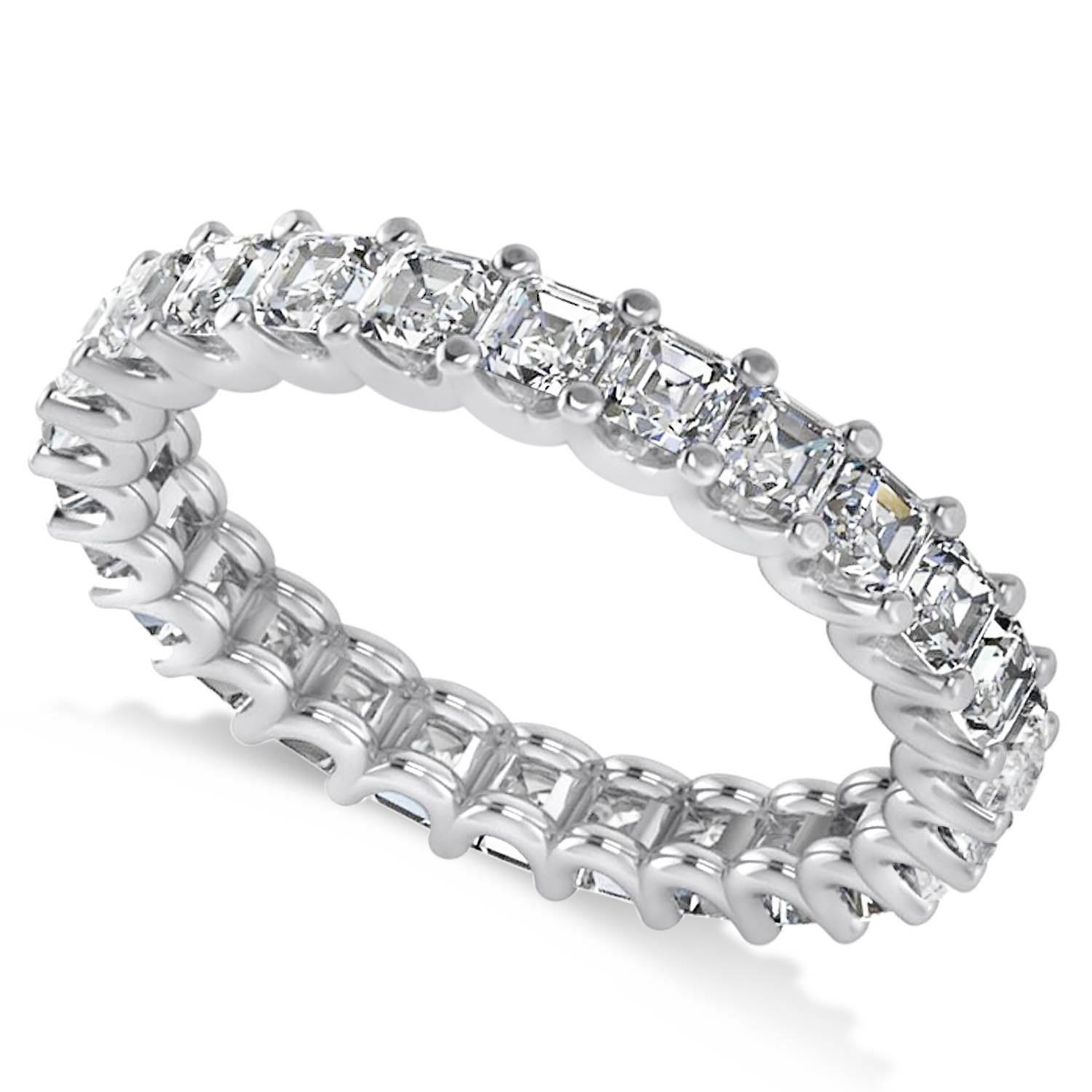Radiant Cut Diamond Eternity Wedding Band Ring 14K White Gold 2.60Ct With Regard To Best And Newest Diamond Eternity Wedding Bands (Gallery 6 of 15)