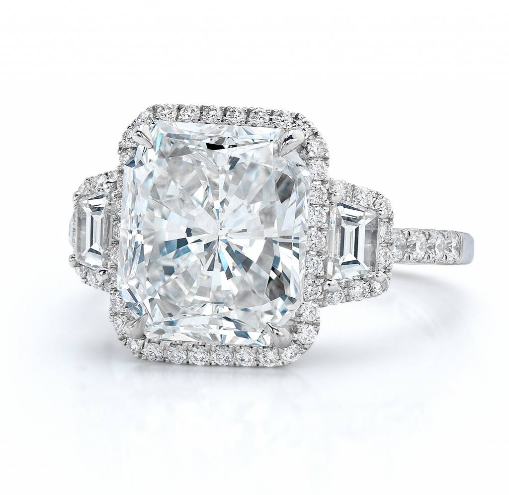 Radiant Cut On Micro Pave Setting — Revere Jewels Within Radiant Cut Engagement Ring Settings (Gallery 9 of 15)