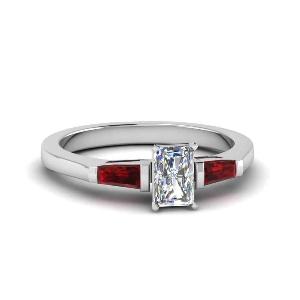 Rare 3 Stone Radiant Engagement Rings | Fascinating Diamonds Intended For Rectangular Radiant Cut Diamond Engagement Rings (Gallery 10 of 15)