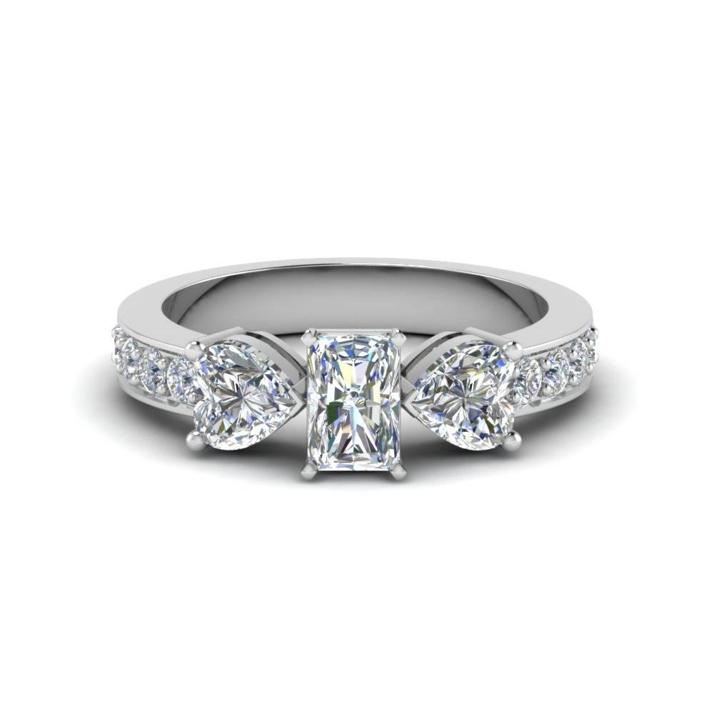 Rare 3 Stone Radiant Engagement Rings | Fascinating Diamonds With Rectangular Radiant Cut Diamond Engagement Rings (View 5 of 15)