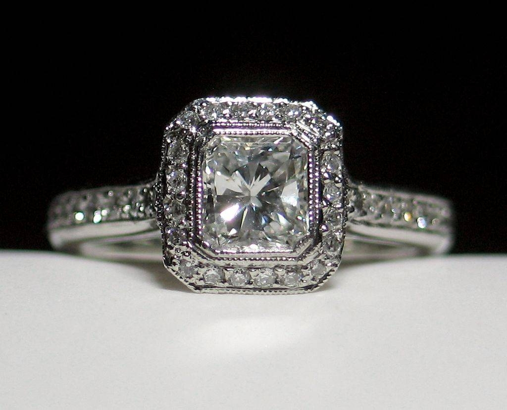 Rectangular Radiant Cut Diamond Engagement Rings In Rectangular Radiant Cut Diamond Engagement Rings (View 6 of 15)