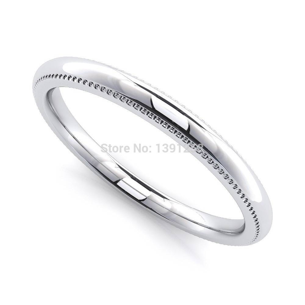 Ring Drop Picture – More Detailed Picture About 2mm Milgrain For 2017 Plain Wedding Bands For Women (View 7 of 15)