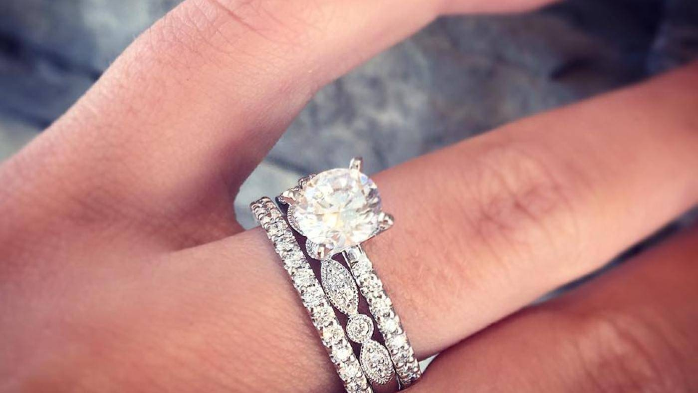 Ring : Glorious Princess Cut Diamond Engagement Ring And Wedding Within Wedding Bands To Go With Princess Cut Engagement Rings (Gallery 9 of 15)