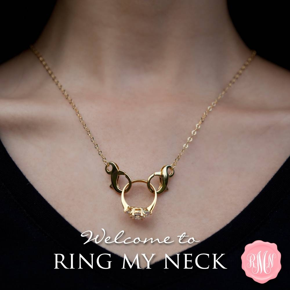 Ring My Neck | Finally A Way To Wear Your Sparkler When You Can't Regarding Wedding Bands On Necklace (View 7 of 15)