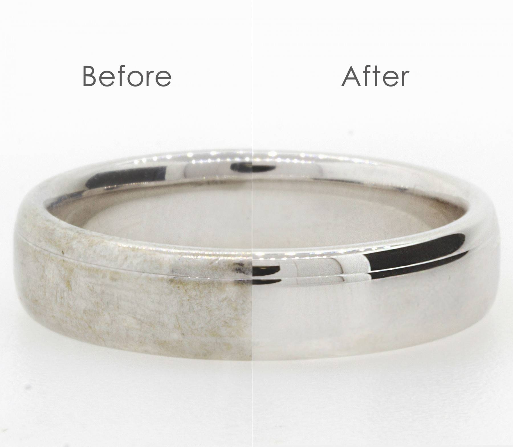 Ring Polishing / Rhodium Plating – Products And Services Throughout Most Recently Released Rhodium Wedding Bands (View 11 of 15)