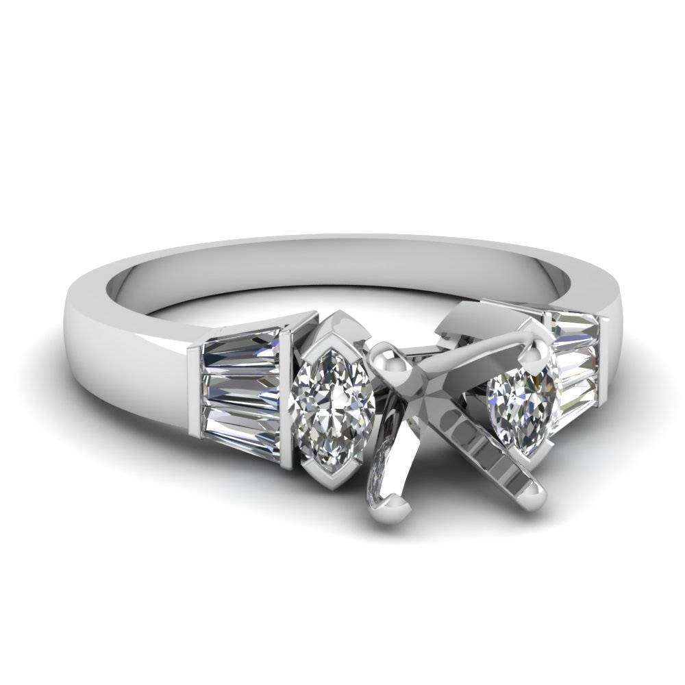 Ring Settings Without Center Diamond | Fascinating Diamonds Within Wedding Rings Mounts Without Center Stone (Gallery 2 of 15)