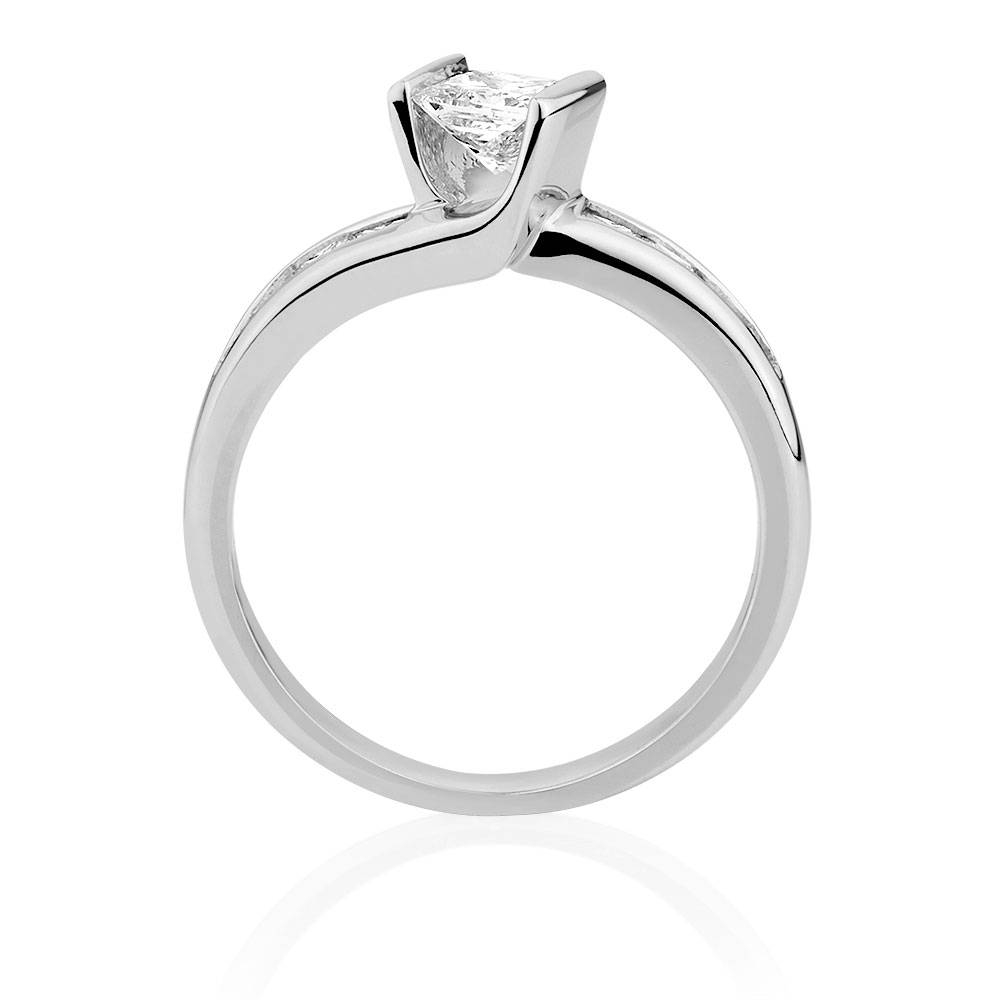 Ring With 1 Carat Tw Of Diamonds In 18Ct White Gold With Regard To Rochester Engagement Rings (Gallery 10 of 15)