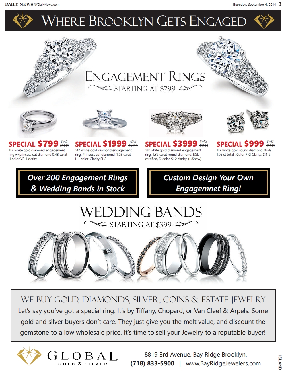 Rings & Bands On Sale – Featured In The Daily News With Regard To Wedding Bands On Sale (View 14 of 15)