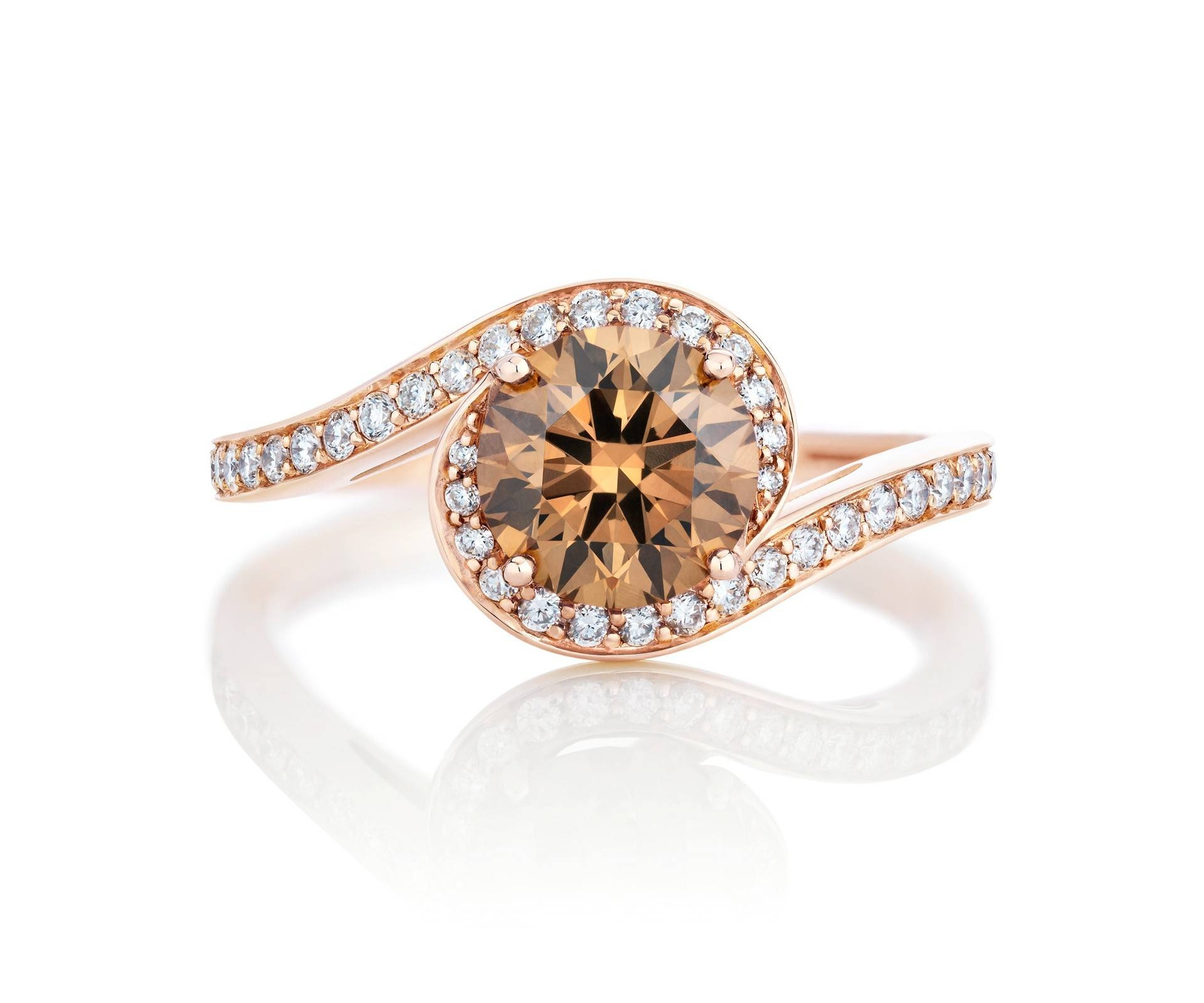 Rose Gold Diamond Engagement Rings | De Beers Throughout Colorful Diamond Engagement Rings (Gallery 7 of 15)