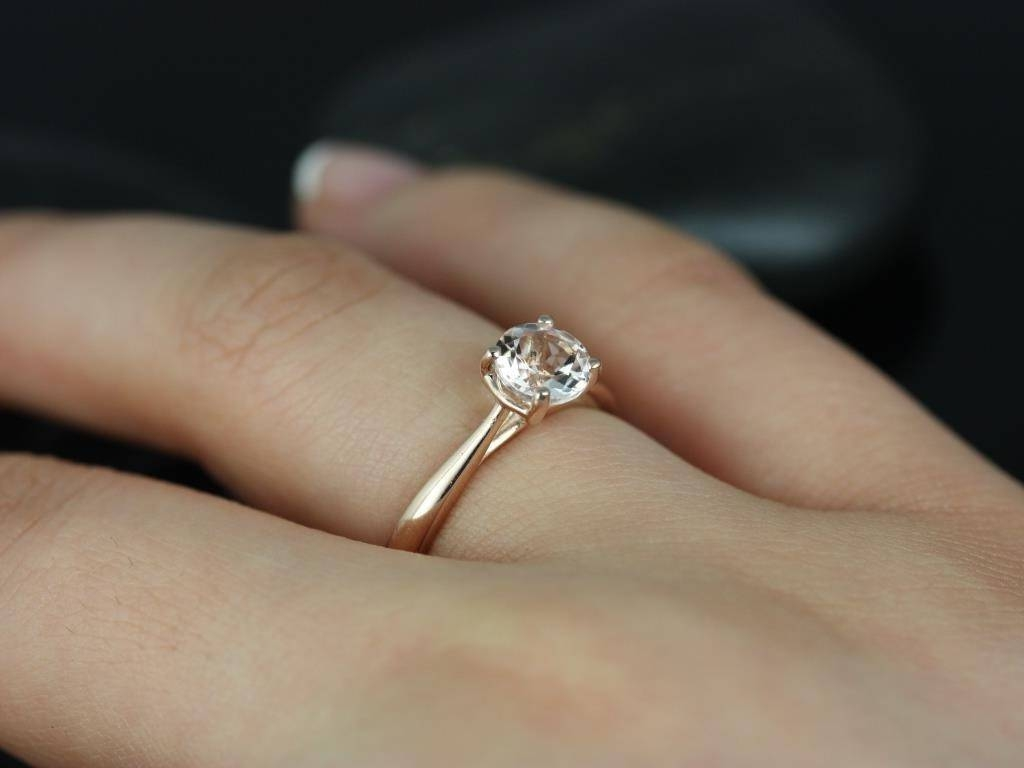Rose Gold Engagement Rings For Women Tags : Rose Gold Wedding Band With Most Current White Gold Engagement Rings With Rose Gold Wedding Bands (View 8 of 15)