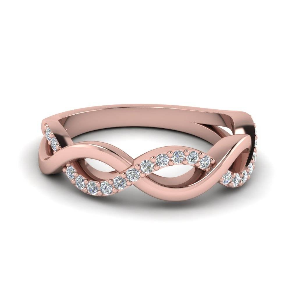 Rose Gold Wedding Bands For Women | Fascinating Diamonds Regarding Rose Gold Womens Wedding Bands (View 10 of 15)