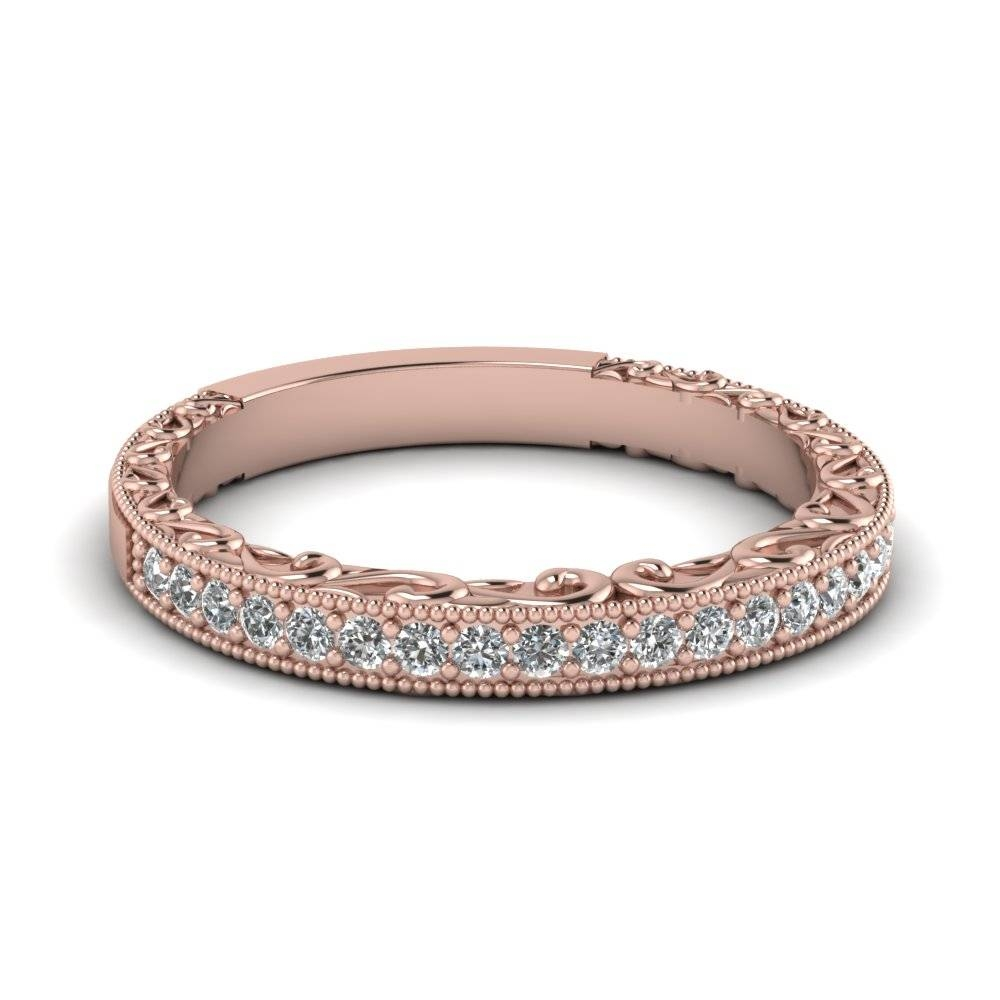 Rose Gold Wedding Bands For Women | Fascinating Diamonds Throughout Rose Gold Womens Wedding Bands (View 11 of 15)