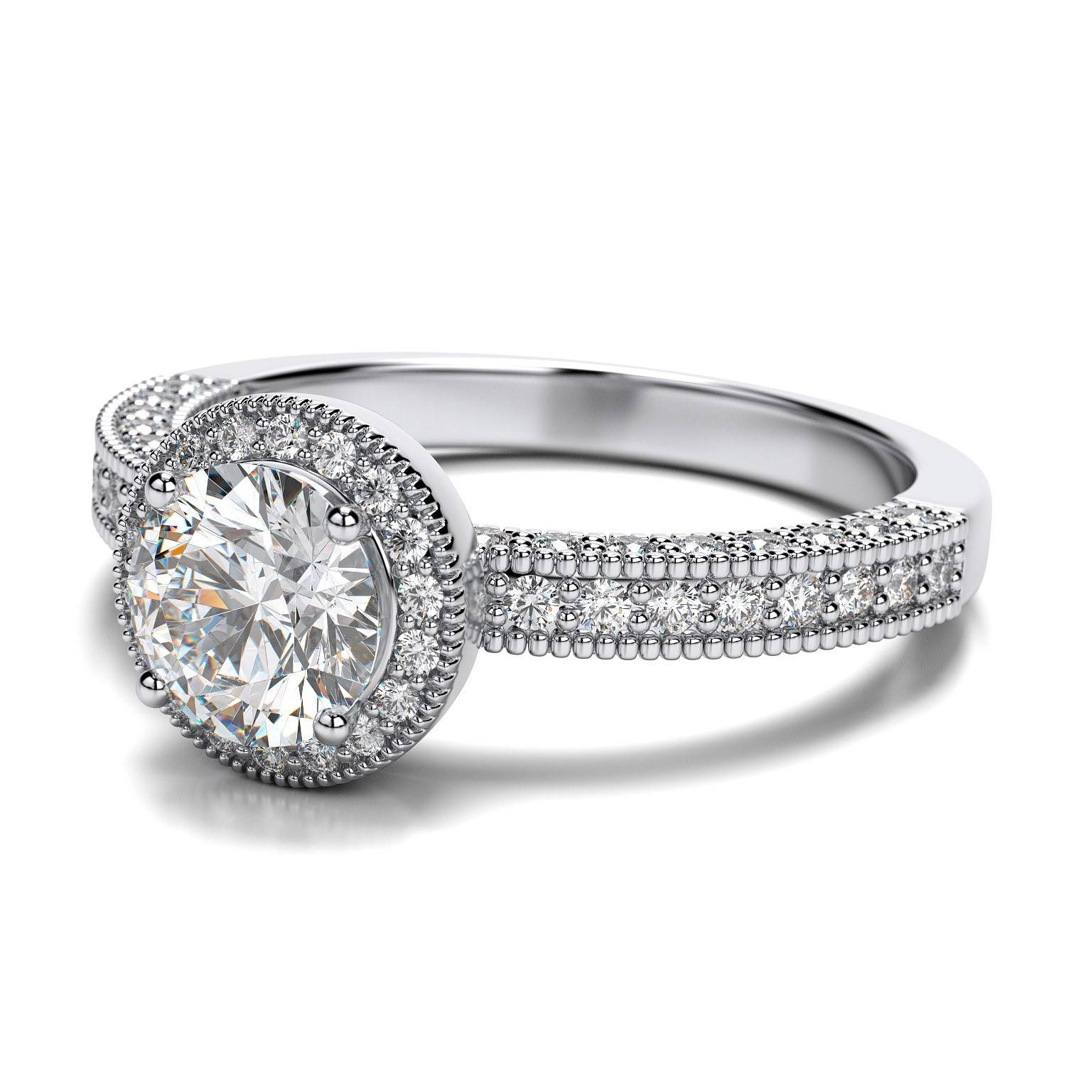 Round Antique Engagement Rings | Wedding, Promise, Diamond Throughout Round Antique Engagement Rings (View 10 of 15)