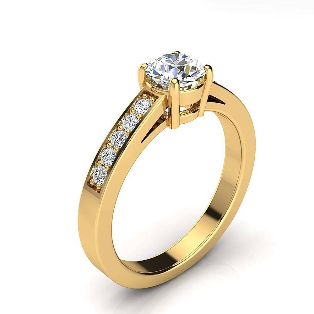 Round Diamond Engagement Ring Setting  (View 12 of 15)