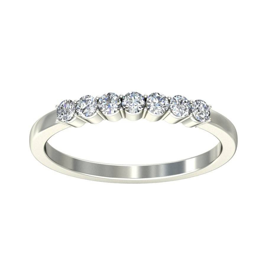 Round Diamond Wedding Band For Her On Sale – Jeenjewels With Wedding Bands On Sale (View 7 of 15)