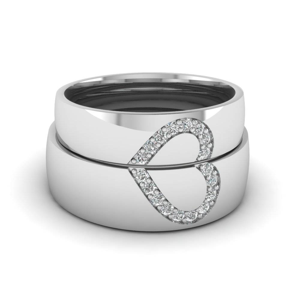Round White Diamond Wedding Band With White Diamond In 14K White Regarding Women's Platinum Wedding Bands (View 12 of 15)