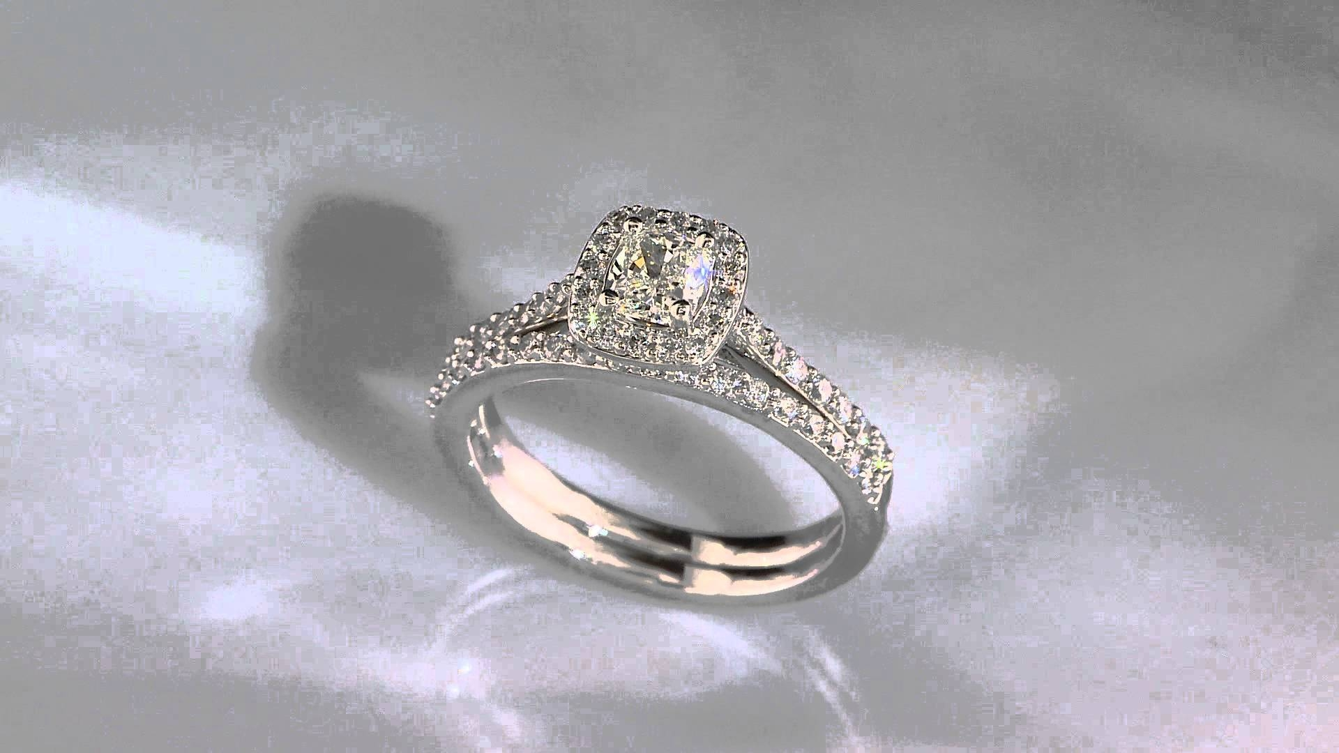 Roxi. White Gold Diamond Halo Engagement Ring 3/4Ct. T.w. – Youtube Regarding Rogers And Holland Engagement Rings (Gallery 1 of 15)