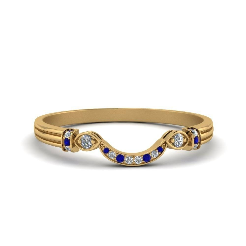 Sapphire Wedding Bands | Fascinating Diamonds Regarding Curved Sapphire Wedding Bands (View 11 of 15)