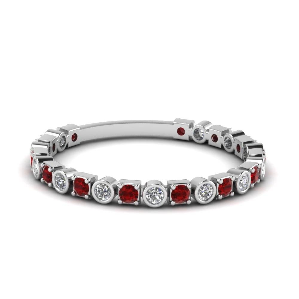 Save Big On Ruby Wedding Bands For Women |Fascinating Diamonds Intended For Most Current Ruby Wedding Bands For Women (View 8 of 15)