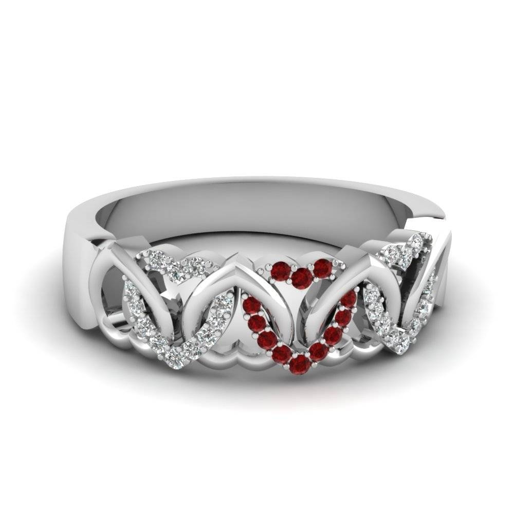Save Big On Ruby Wedding Bands For Women |fascinating Diamonds Pertaining To Newest Ruby Wedding Bands For Women (View 4 of 15)