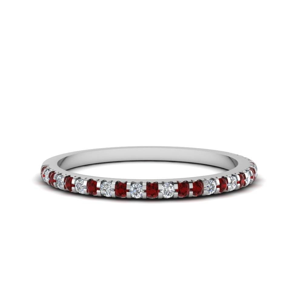 Save Big On Ruby Wedding Bands For Women |fascinating Diamonds With Regard To Best And Newest Ruby Wedding Bands For Women (View 2 of 15)