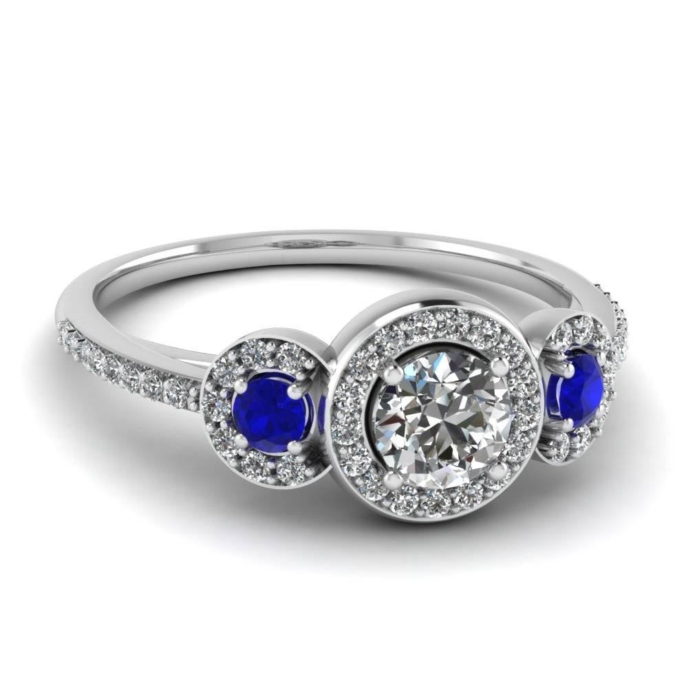 Shop For Vintage Sapphire Wedding Rings & Bands| Fascinating Diamonds Regarding Wedding Bands With Gemstones (Gallery 7 of 15)