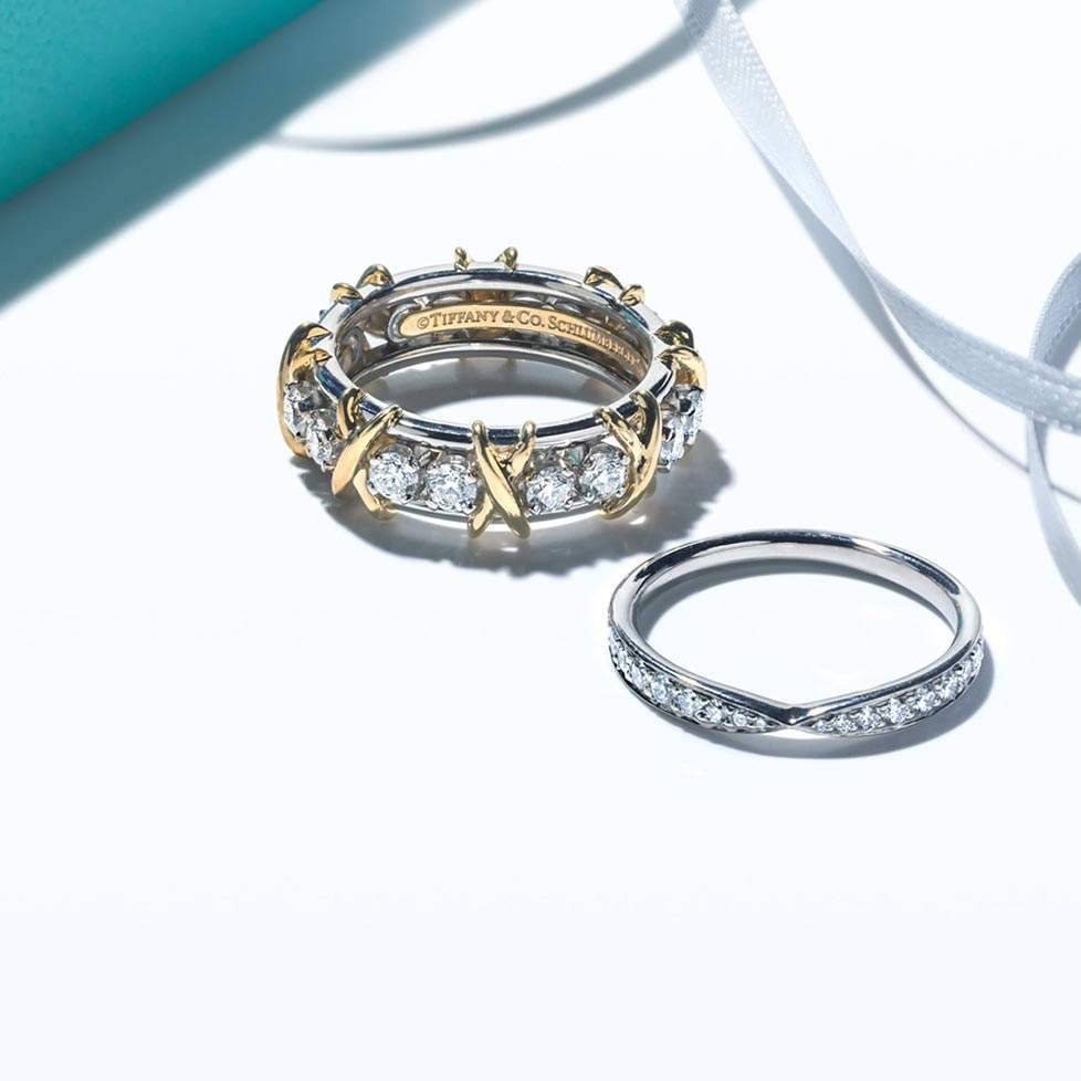 Shop Wedding Bands And Rings | Tiffany & Co. Inside Current Platinum Wedding Band With Diamonds (Gallery 9 of 15)