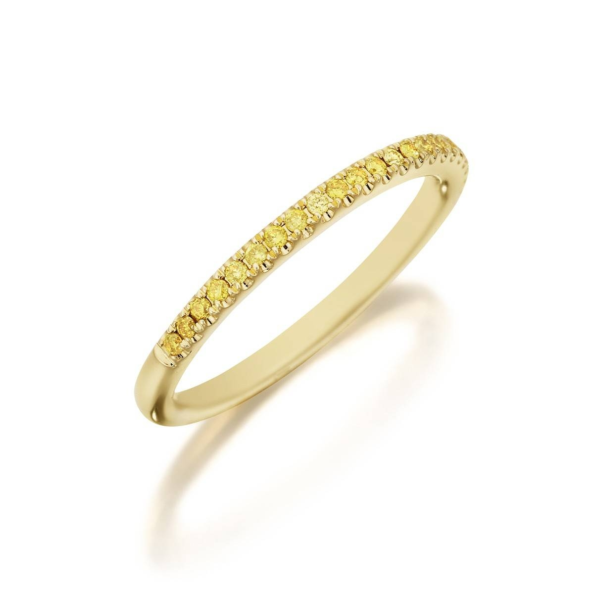 Show Me Your Fancy Color Solitaire + Wedding Band – Weddingbee Inside Wedding Bands With Yellow Diamonds (View 11 of 15)