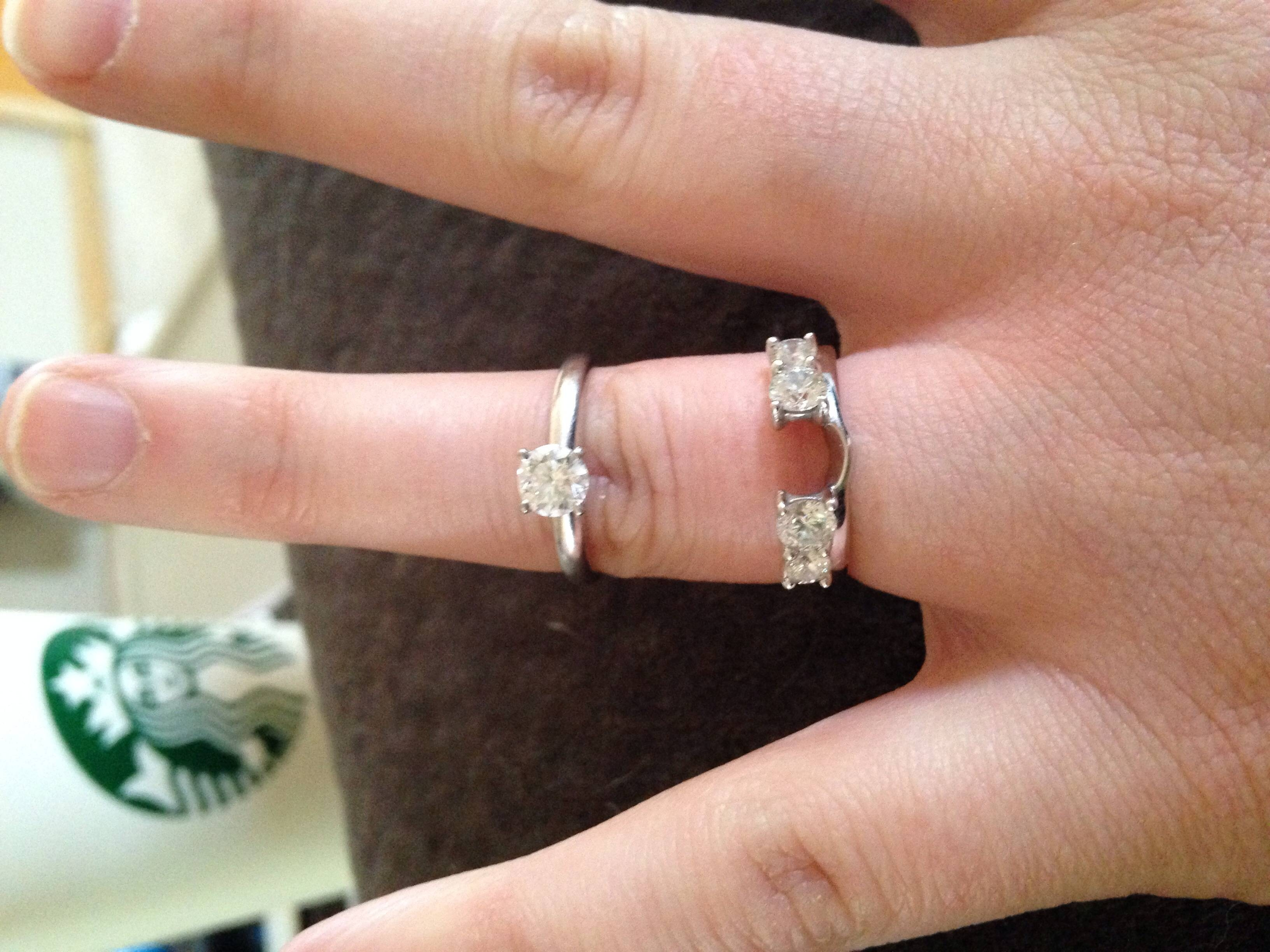 Show Us Your Wedding Band For Solitaire Engagement Rings! – Weddingbee In Solitaire Rings With Wedding Band (View 8 of 15)