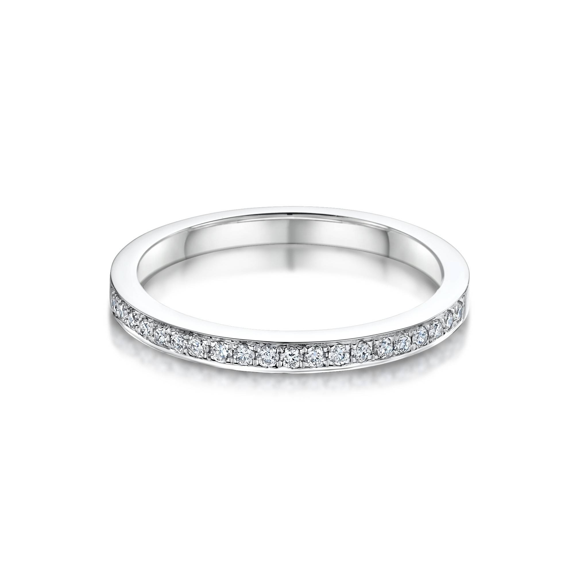Sienna Diamond Set Platinum Wedding Band | Laings The Jeweller With Regard To Best And Newest Platinum Wedding Band With Diamonds (Gallery 15 of 15)