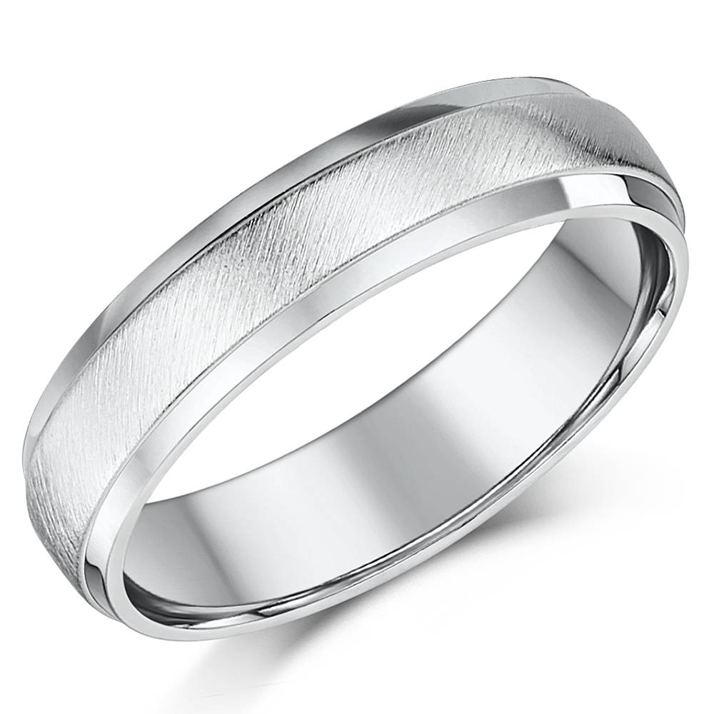 Silver Patterned Rings And Sterling Silver Wedding Bands For Men Pertaining To Recent 5Mm Palladium Wedding Bands (View 13 of 15)