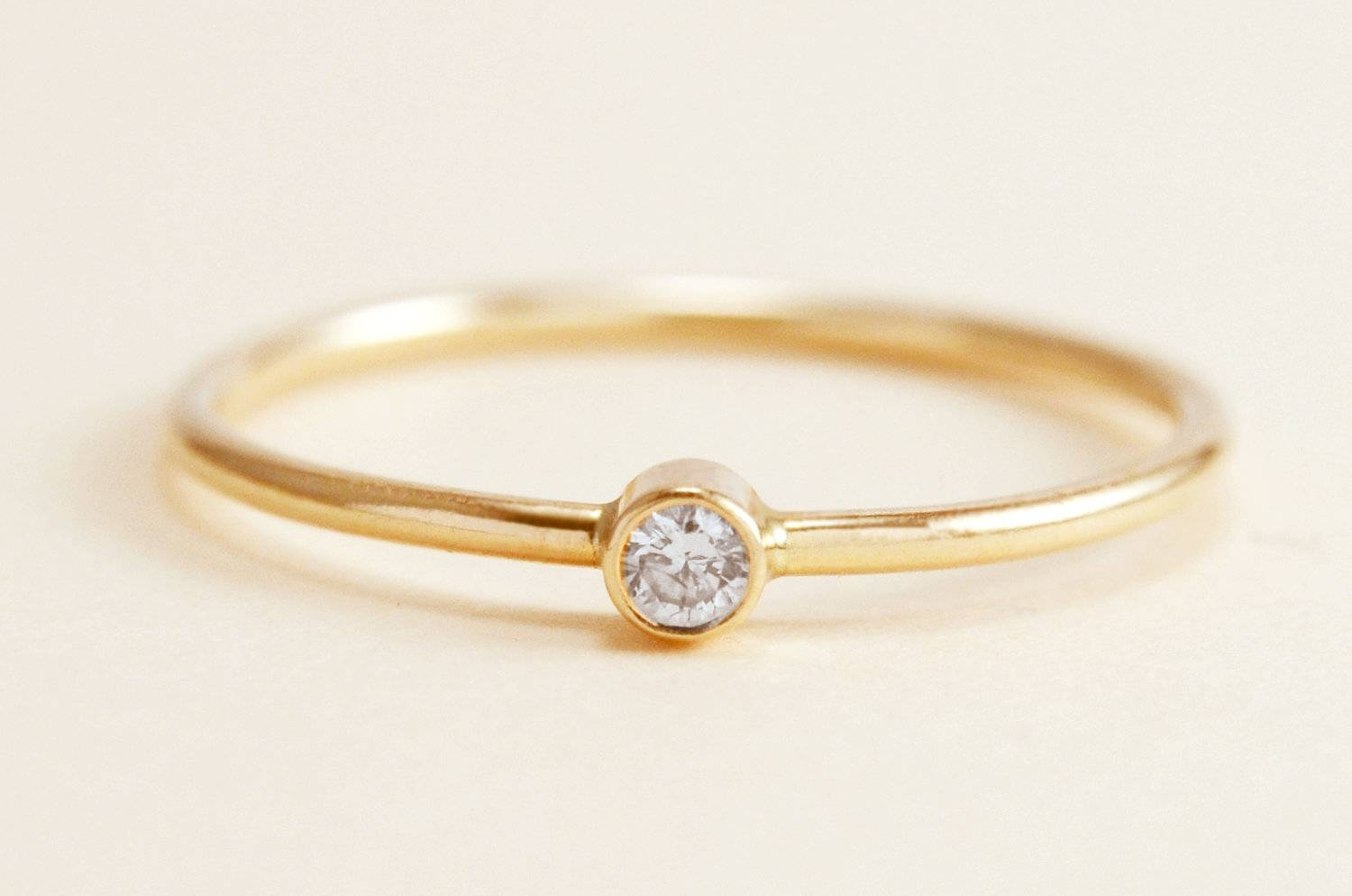 Simple Diamond Ring In 14K Gold With Simple Engagement Rings Without Diamond (View 12 of 15)