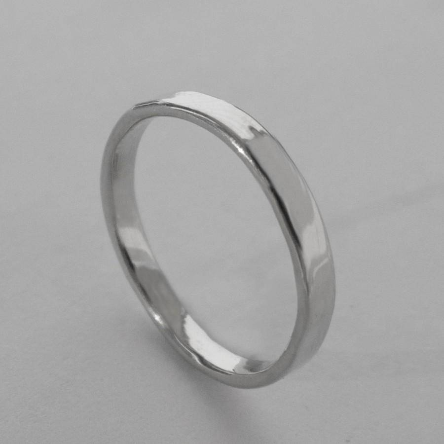 Simple Platinum Wedding Band – Platinum Ring , Platinum Wedding In Most Recently Released Wedding Band Mens Platinum (View 7 of 15)
