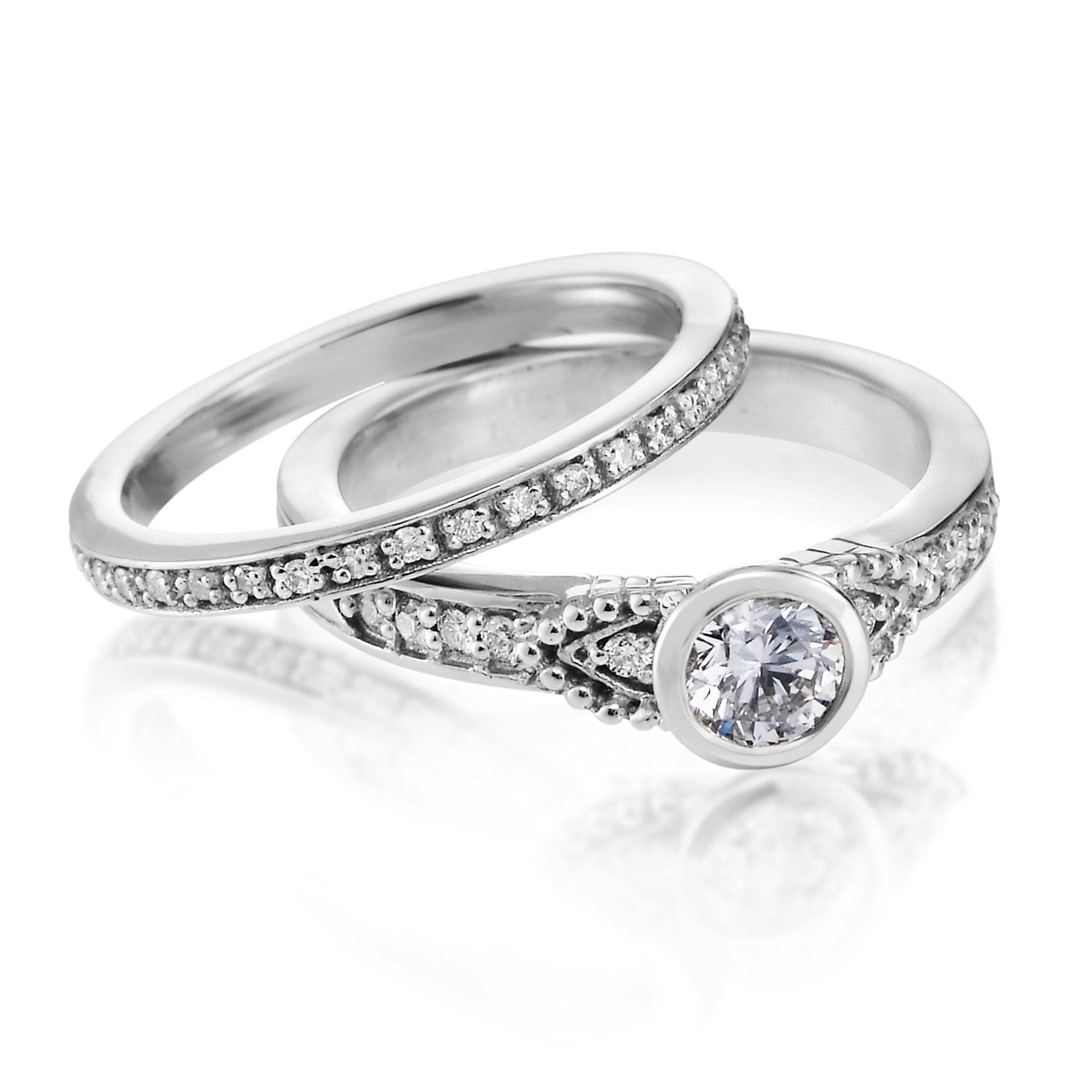Simple Silver Diamond Wedding Ringswedwebtalks | Wedwebtalks Throughout Silver Diamond Wedding Rings (View 4 of 15)