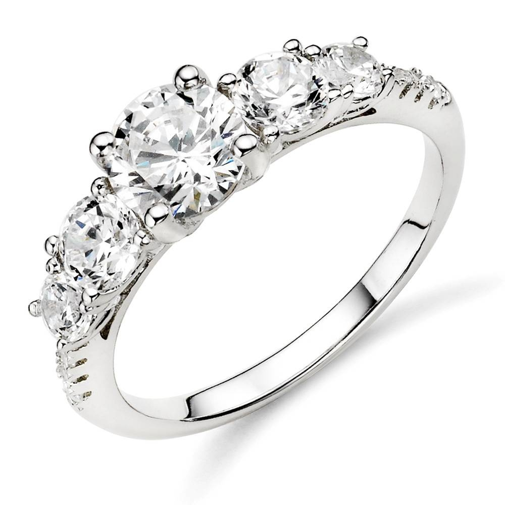 Simple Silver Ring Designs Silver Diamond Wedding Rings For Women In Silver Diamond Wedding Rings (Gallery 2 of 15)